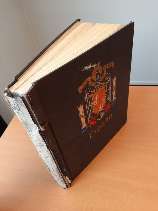 Spanien 1850/1979 - Advanced collection with many higher denominations in a DAVO album - Michel