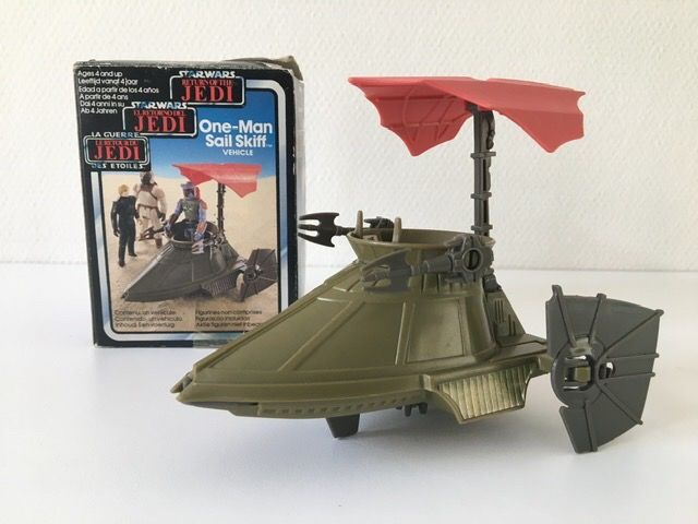 Star Wars Episode VI: Return of the Jedi - Palitoy - Clipper Benelux - Véhicule - vintage - One-Man Sail Skiff 1983 with original box