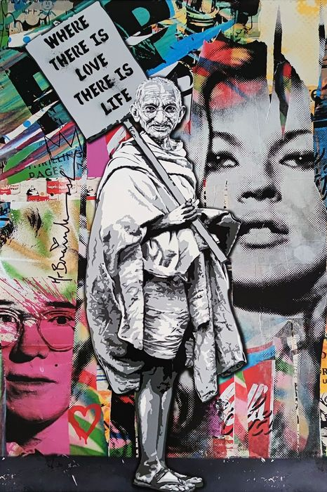 """Mr Brainwash (1966) - """"Where there is love there is life - GANDHI """""""