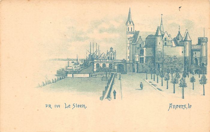 Belgium - Antwerp - old cityscapes - Postcards (Collection of 217) - 1900