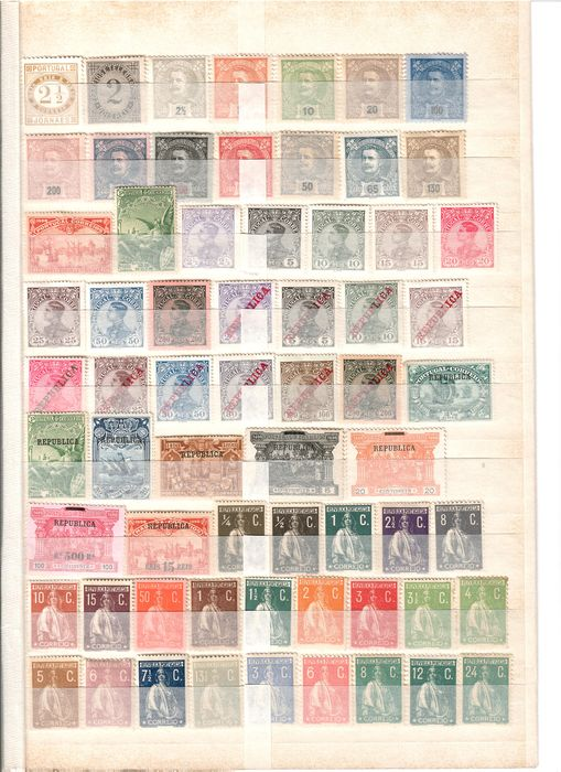 Portugal 1879/1945 - Selection of 250 stamps with some complete series. - Mundifil Nº 48 a 651