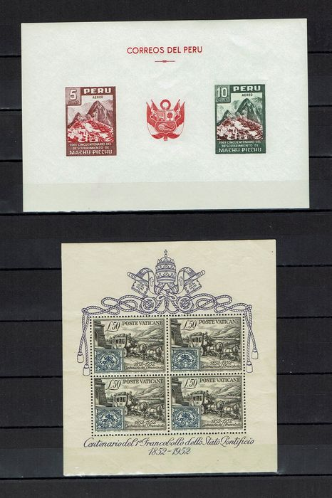 Wereld 1937/1991 - 44 different blocks from the whole world with Vatican block 1