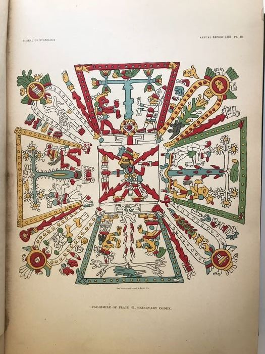 Bureau of Ethnology: J.W. Powell and others - Third Annual report of the Bureau of Ethnology; Maya, Masks, Navajo - 1884