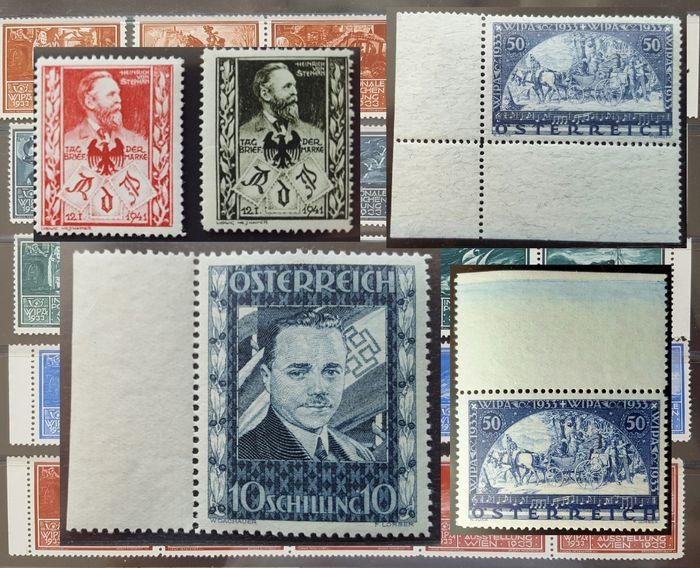 Oostenrijk 1918/1938 - Complete stamps and postage due stamps