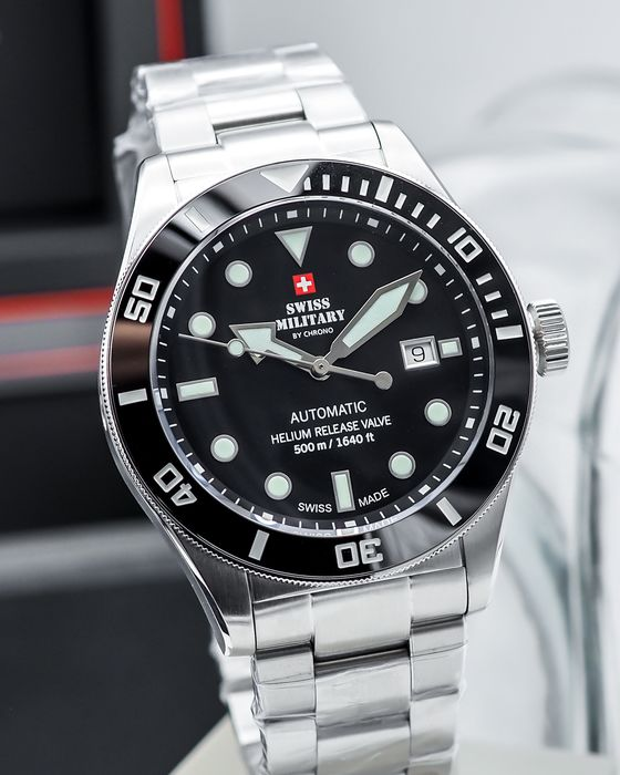 """Swiss Military by Chrono - Deep diver 500m - Automatic LE of 999 - """"NO RESERVE PRICE"""" - SMA34075.01 - Men - 2011-present"""