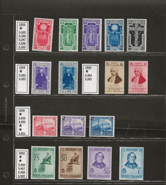 Lot 49214161 - Italian Stamps  -  Catawiki B.V. Weekly auction - Note the closing date of each lot