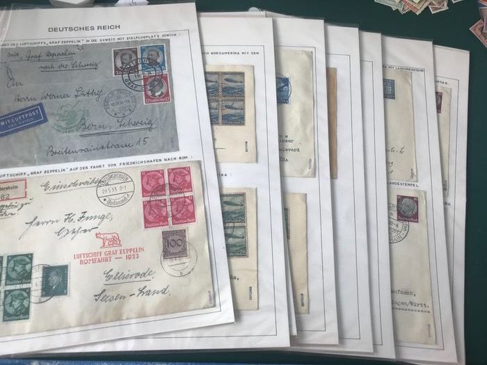 Deutsches Reich - Well organised collection of thirty Zeppelin letters - Michel