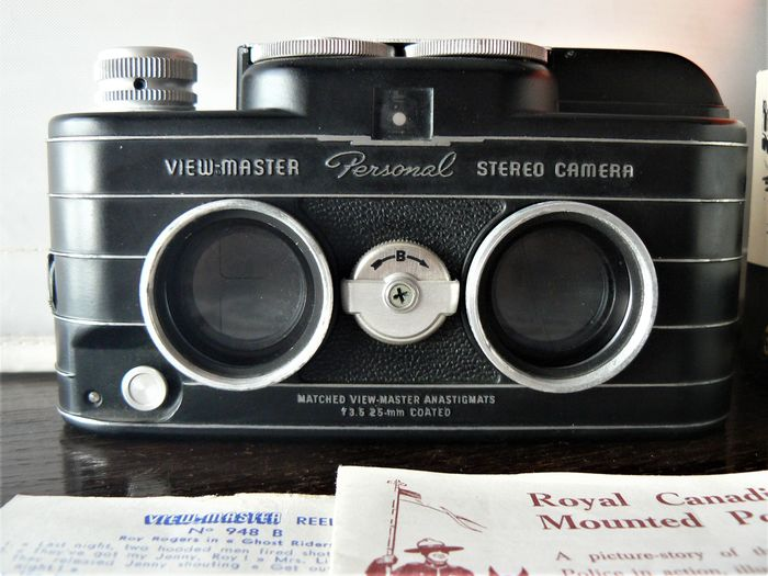 Sawyer View-master Personal Stereo, plus 3D View-master, model E (with 8 reel). USA 1952