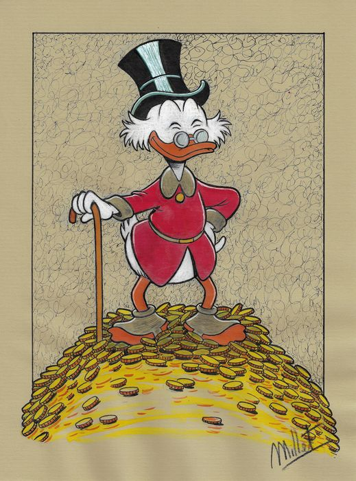 Scrooge McDuck - Millet - Original Drawing - First edition