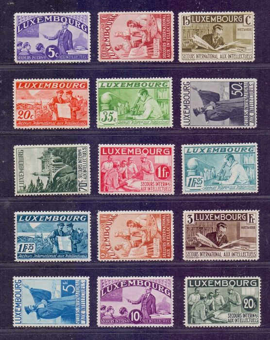 Luxembourg 1935 - International Aid for Intellectuals - Yvert 259/273