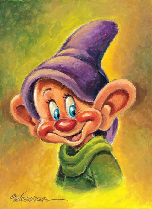 DOPEY [Snow White and the Seven Dwarfs] - Acrylic Painting - Joan Vizcarra - Original Art
