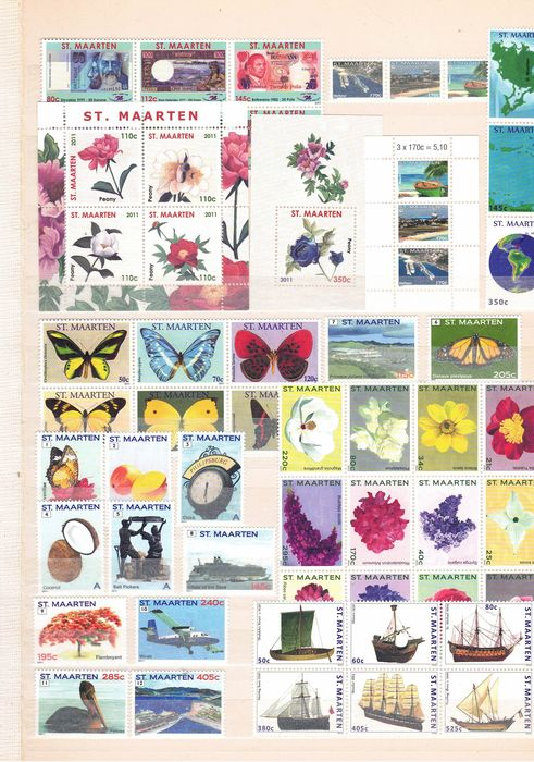 Saint Martin - Extensive collection, stamps and blocks - Michel