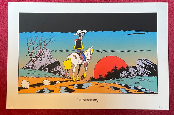 Morris - Serigraphie Equinox - Lucky Luke - I'm a poor lonesome cow-boy - (1999)