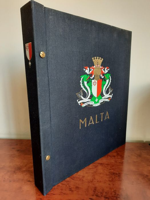 Malta 1964/1990 - Collection since the independence + Airmail and such on mainly Cristal pages in a DAVO album - Michel