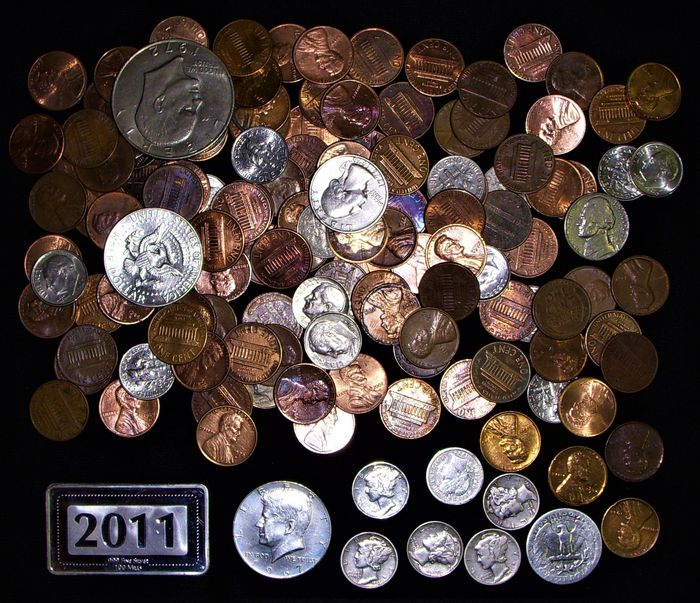 États-Unis. 135 Coins - Varied Lot - Several Values inc. 8X silver 1902 to 2017