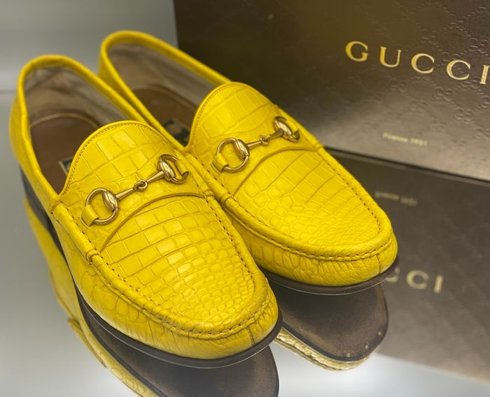 Gucci - 1953 Crocodile Loafers - Mocassins - Taille: Chaussures / UE 43.5