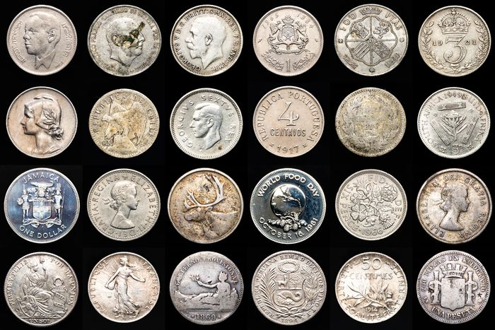 Monde. Lot various Worldcoins 19th-20th century (12 pieces)