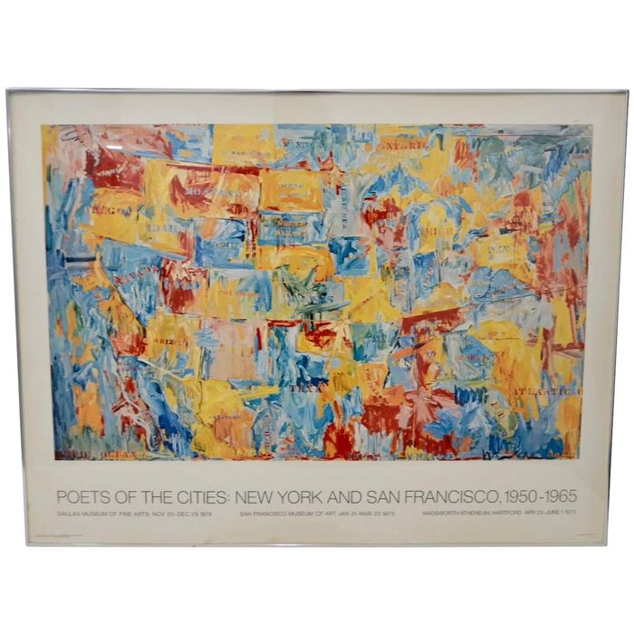 Jasper Johns - Poeta of the city New York and San Francisco than and now - 1974