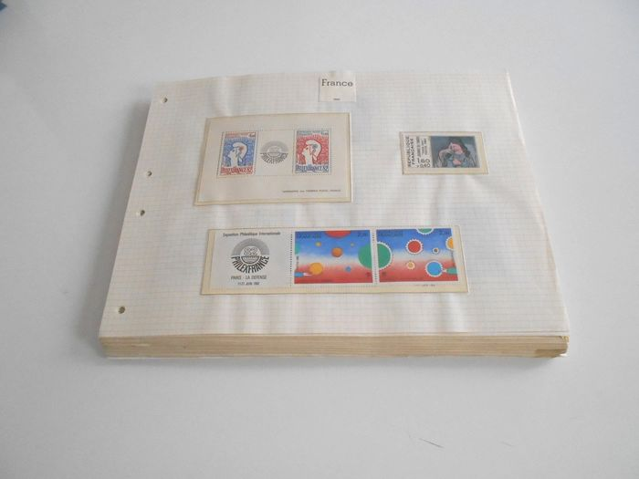 Frankrijk 1982/2000 - A very consistent collection on gridded pages, blocks, booklets - FACIAL - - Yvert