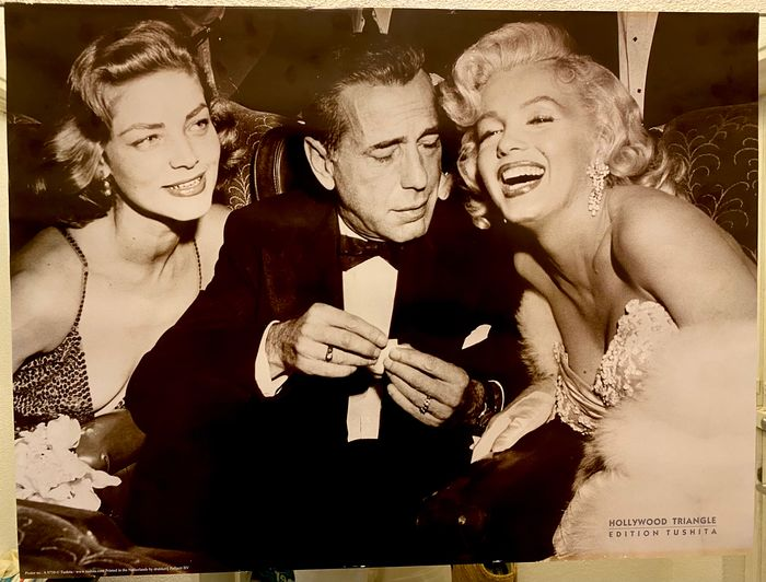 """""""How to Marry a Millionaire"""" Premiere Party (1953) - Marilyn Monroe, Lauren Bacall & Humphrey Bogart - Poster, Edition: Tushita - 60x80 cm"""