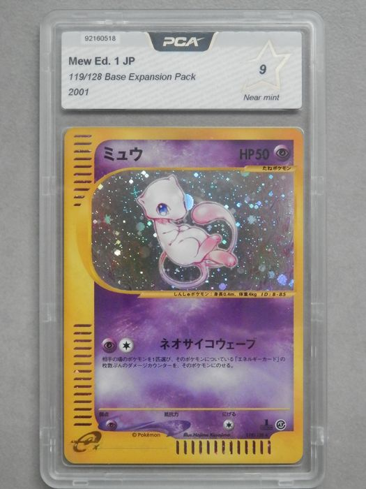 Pokemon - Trading card Mew Edition 1 - 119/128 - PCA 9 - Base expansion Pack - Jap - 2001