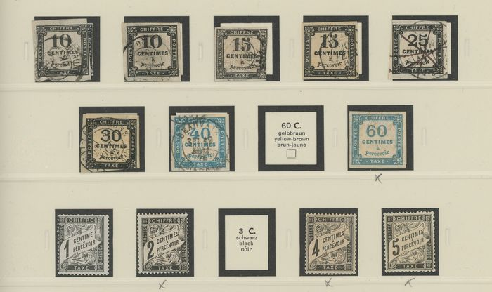 Frankrijk 1859/1983 - A beautiful old set of old, postage due and semi-modern stamps with Duval stamps - Value estimate: - Yvert Entre les n°1 et 112
