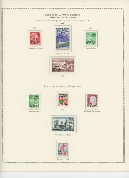 Franse kolonie 1959/1974 - Consistent Reunion CFA collection with airmail and postage due - Yvert