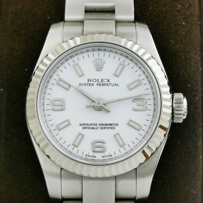 Rolex - Oyster Perpetual COSC White Gold Bezel - Ref. 176234 - Donna - 2006 / 2007