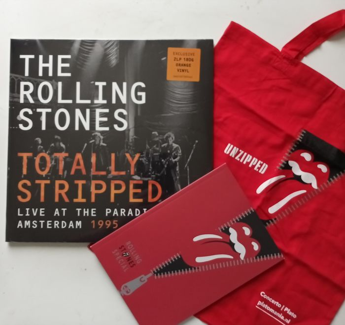 Rolling Stones - Totally Stripped (Live At The Paradiso Amsterdam 1995) [Totebag & Book Edition] - 2x LP Album (Doppelalbum), Limitierte Auflage, Magazin(e) - 2020