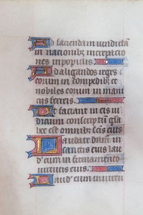 Manuscript - Leaf from a book of hours- ca. - 1450