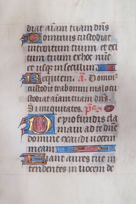 Manuscript - leaf from a book of hours c.a. 1450