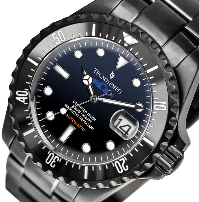 """Tecnotempo - """"NO RESERVE PRICE"""" Professional Diver 2000 meters Special Limited Edition Blue Submarine - TT.2000.SBLBN (Black/Blue dial) - Men - 2011-present"""