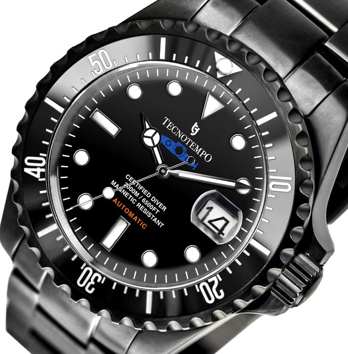 """Tecnotempo - """"NO RESERVE PRICE"""" Professional Diver 2000 meters Special Limited Edition Blue Submarine - TT.2000.SBLN (Black dial) - Heren - 2011-heden"""