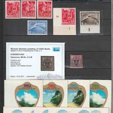 Monde - Lot with 6 albums with Haiti, Swiss airmail, German Reich, classical Netherlands, Tonga, Hawaii