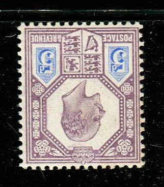 Großbritannien 1902 - 5 pence dull purple and ultramarine mint INVERTED WATERMARK - Stanley Gibbons SG242aWi