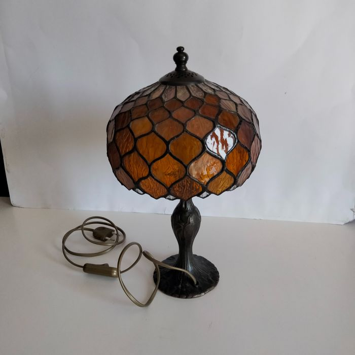 Lamp (1) - Glas-in-lood