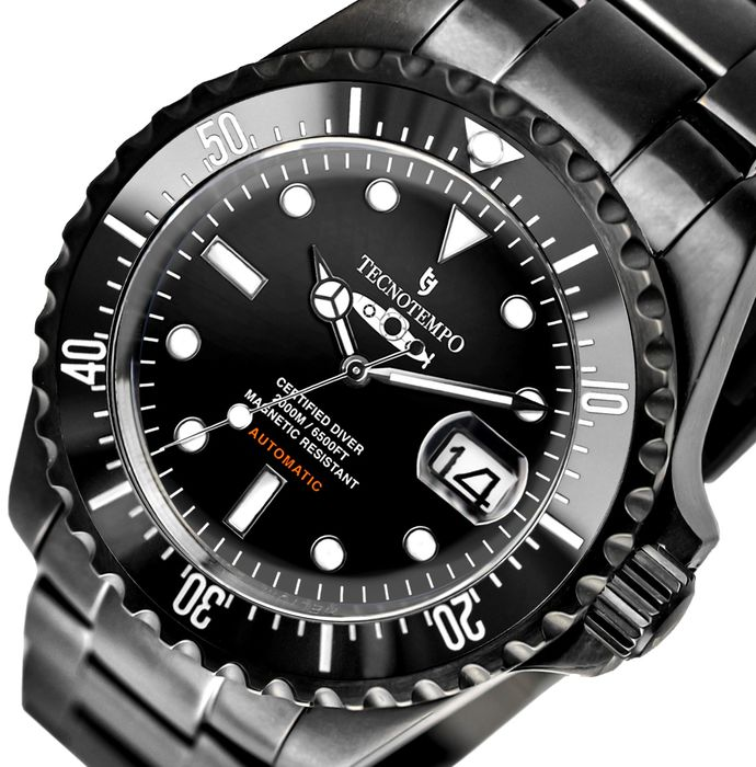 """Tecnotempo - """"NO RESERVE PRICE"""" Professional Diver 2000 meters Special Limited Edition White Submarine - TT.2000.SNN (Black dial) - Heren - 2011-heden"""