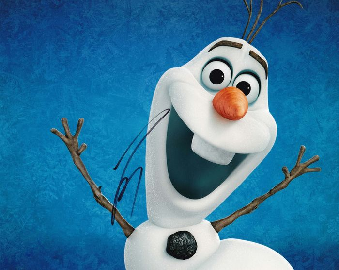 """Frozen (2013) - Signed by Josh Gad, the original voice of """"Olaf"""" - Autographe, Photo, Signed, with COA"""