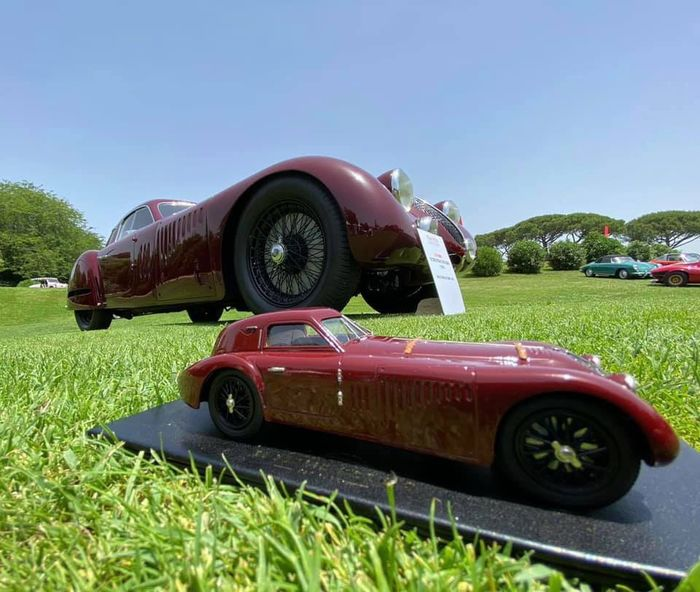 Brooklin Models - 1:31 - Alfa Romeo 8C 2900 B Speciale Tipo Le Mans - The REB Concours Limited Edition 50 pieces - 1:31 Scale - Het REB Concours Limited Edition 50 stuks