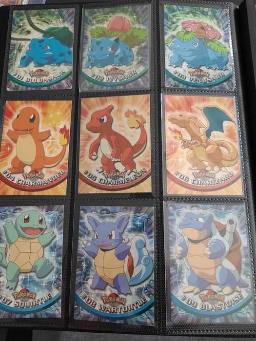 The Pokémon Company - TOPPS - Trading cards serie 1 - Fullstendig album Excellent à Near mint condition- english all 1st edition -including Charizard - 1999