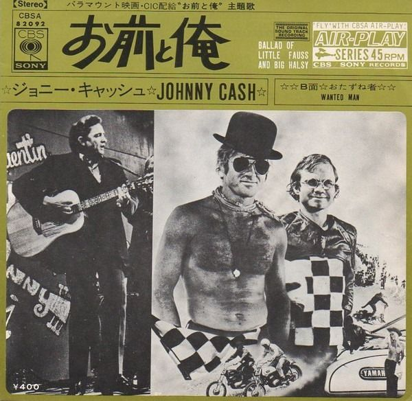 """Johnny Cash - Ballad Of Little Fauss And Big Halsy/ Wanted Man [Japanese Promo Pressing] - 7"""" EP - 1971/1971"""