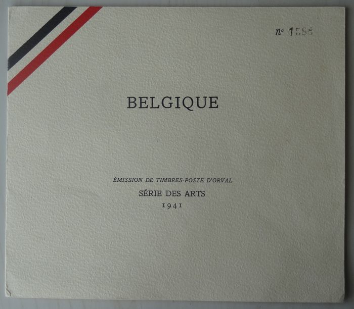 Belgium 1941 - Sheetlet and special numbered booklet, arts of the 4th Orval series - OBP / COB 556-567