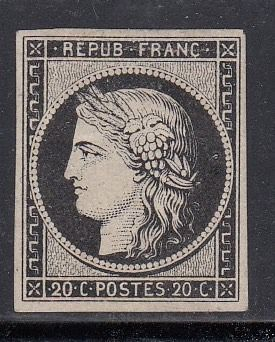 2018-07-23 - No. 3g - Ceres, 20 centimes deep black on white. - Maury