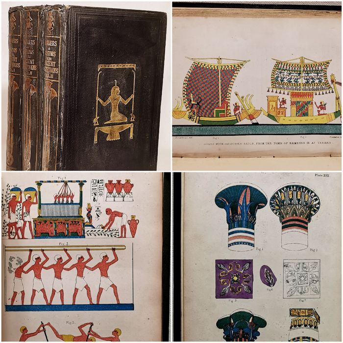 John Gardner Wilkinson - The Manners and Customs of the Ancient Egyptians. In Three Volumes - 1837