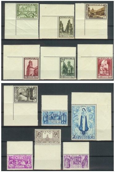 Belgique 1933 - Large Orval with sheet edge - OBP / COB 363/74