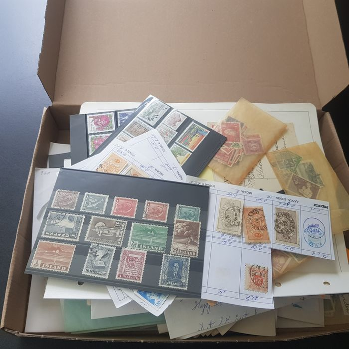 Skandinavien 1880/2006 - Nordics various countries sort-out box, postal order pieces and stamps from various countries