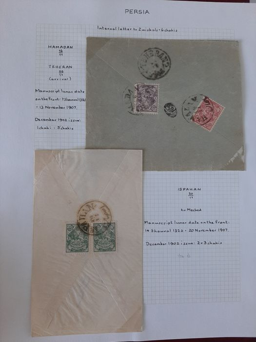 Iran 1878/1936 - Collection of Classics Stamps with better Stamps and Letters - Scott 62-85,91-151, 176-195,211-233,324-354