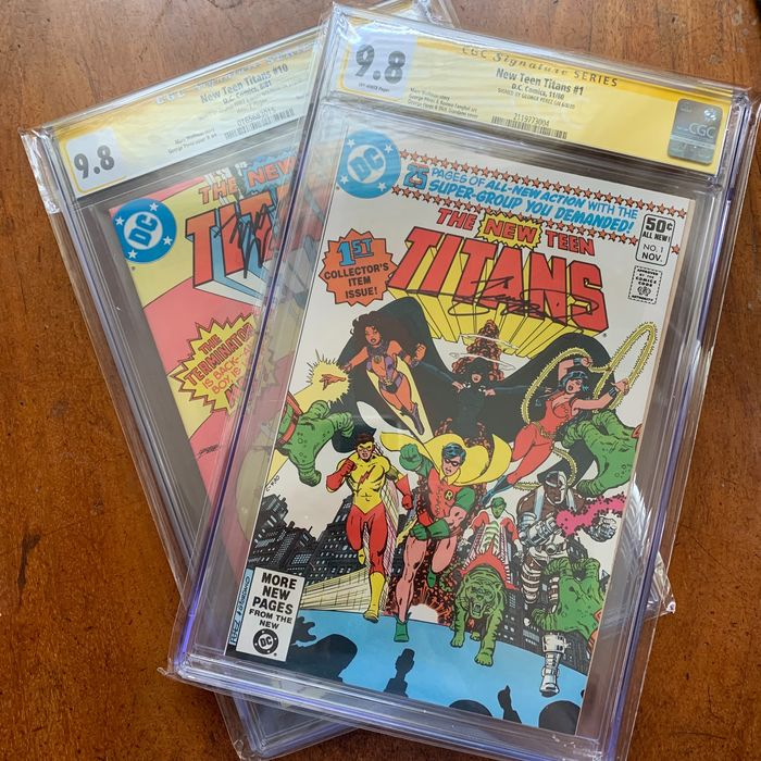New Teen Titans 1 and 10 - New Teen Titans Vol 1 - Loose page - First edition - (1980/1981)