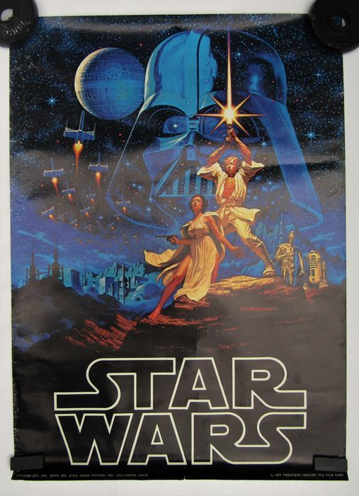 Star Wars Episode IV: A New Hope - Vintage - 1977 - Affiche by the Hildebrandt brothers - U.S.A. - see images, this is NOT a re-print.