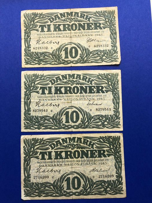 Scandinavië - 17 banknotes from Denmark, Sweden and Norway - Various dates